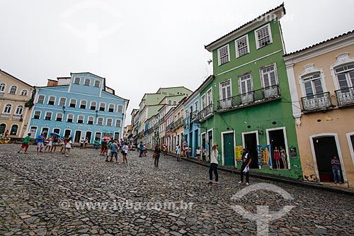 Vista de casarios no Pelourinho com a Fundação Casa de Jorge Amado ao fundo  - Salvador - Bahia (BA) - Brasil
