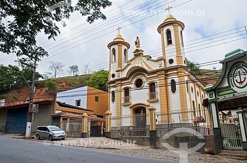 Fachada da Igreja de Nossa Senhora das Graças  - Natividade - Rio de Janeiro (RJ) - Brasil