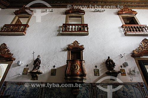 Interior da Igreja de Nossa Senhora do Rosário dos Pretos (século XVIII)  - Salvador - Bahia (BA) - Brasil