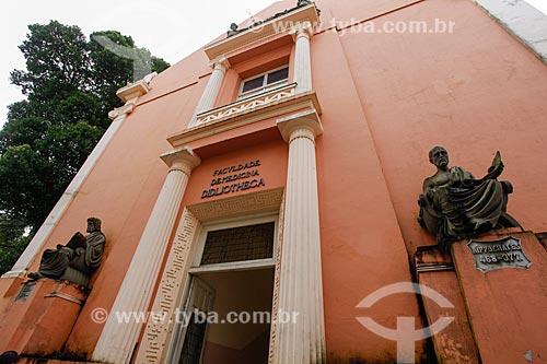 Fachada da Biblioteca da Faculdade de Medicina da Universidade Federal da Bahia  - Salvador - Bahia (BA) - Brasil