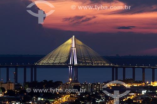 Pôr do sol na Ponte Rio Negro (2011)  - Manaus - Amazonas (AM) - Brasil