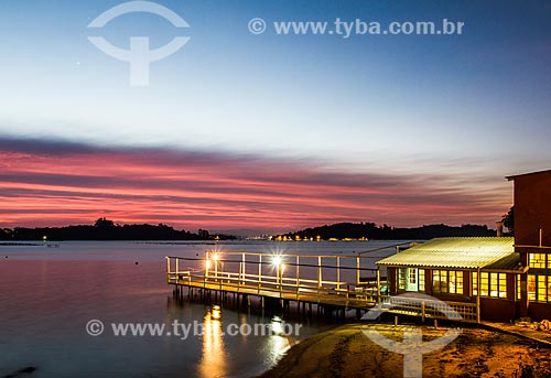 Píer do Restaurante Varanda do Mediterrâneo na Praia do Ribeirão da Ilha  - Florianópolis - Santa Catarina (SC) - Brasil