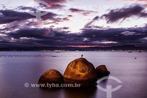 Rochas na Praia da Tapera  - Florianópolis - Santa Catarina (SC) - Brasil