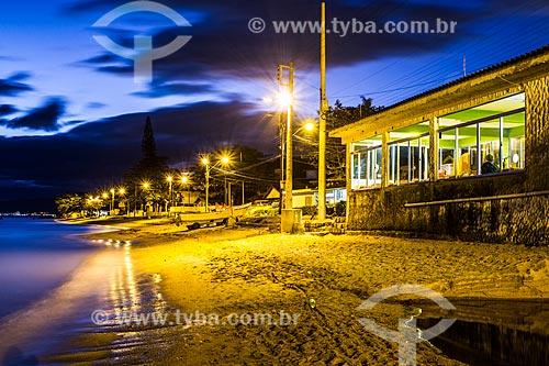 Orla da Praia da Tapera  - Florianópolis - Santa Catarina (SC) - Brasil