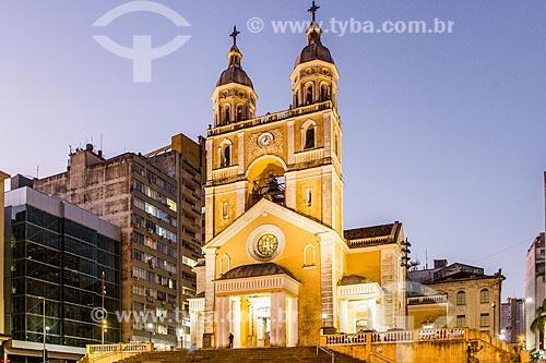 Fachada da Catedral Metropolitana de Florianópolis (1712) - dedicada a Nossa Senhora do Desterro  - Florianópolis - Santa Catarina (SC) - Brasil
