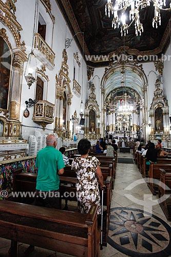 Interior da Igreja de Nosso Senhor do Bonfim (1754) durante a Missa  - Salvador - Bahia (BA) - Brasil