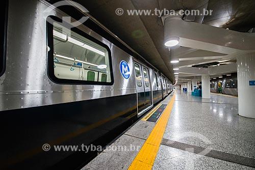 Metrô na Estação Uruguai do Metrô Rio - Linha 1  - Rio de Janeiro - Rio de Janeiro (RJ) - Brasil