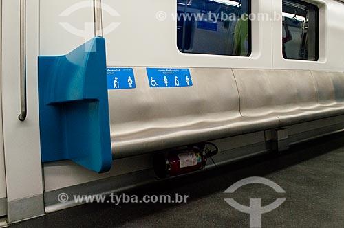 Interior dos novos vagões do metrô na Linha 1  - Rio de Janeiro - Rio de Janeiro (RJ) - Brasil