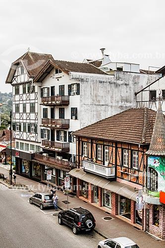 Prédios em arquitetura alemã na Rua Quinze de Novembro  - Blumenau - Santa Catarina (SC) - Brasil