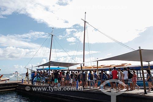 Área de embarque no Terminal Turístico Náutico da Bahia  - Salvador - Bahia (BA) - Brasil