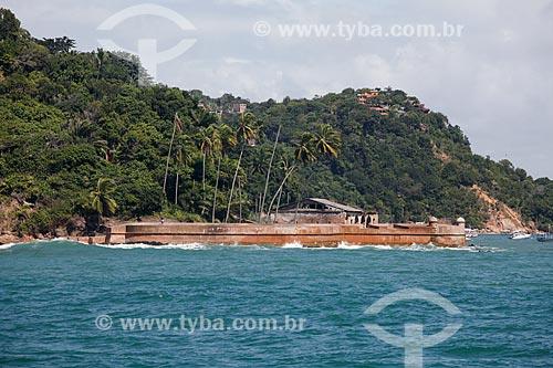 Vista da Fortaleza de Tapirandu (1730)  - Cairu - Bahia (BA) - Brasil