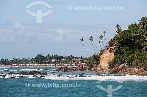 Vista da orla da Praia da Pedra do Facho com a 1ª Praia ao fundo  - Cairu - Bahia (BA) - Brasil