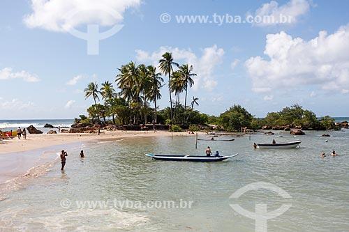 Vista da Ilha da Saudade - entre as 2ª e 3ª Praias  - Cairu - Bahia (BA) - Brasil
