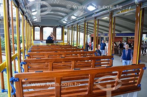 Bonde de Santa Teresa parado na estação  - Rio de Janeiro - Rio de Janeiro (RJ) - Brasil