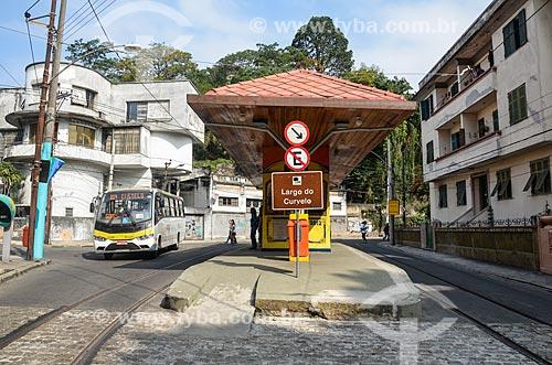 Estação do Bonde de Santa Teresa no Largo do Curvelo  - Rio de Janeiro - Rio de Janeiro (RJ) - Brasil