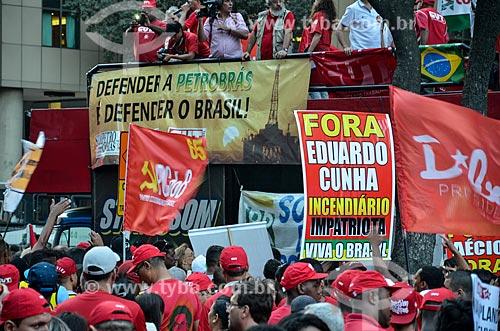 Manifestação em defesa do governo da presidente Dilma Roussef  - Rio de Janeiro - Rio de Janeiro (RJ) - Brasil
