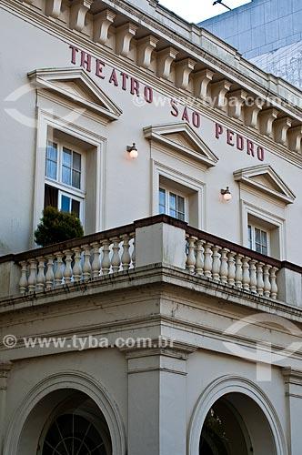 Fachada do Theatro São Pedro (1858)  - Porto Alegre - Rio Grande do Sul (RS) - Brasil