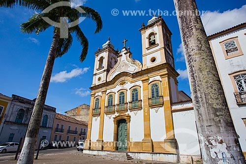 Fachada da igreja de Nossa Senhora da Corrente ou Igreja dos Lemos (1790)  - Penedo - Alagoas (AL) - Brasil
