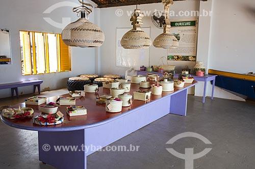 Utensilios produzidos pelas artesãs de Pontal do Coruripe, que produzem artesanato com palha da palmeira ouricuri  - Coruripe - Alagoas (AL) - Brasil