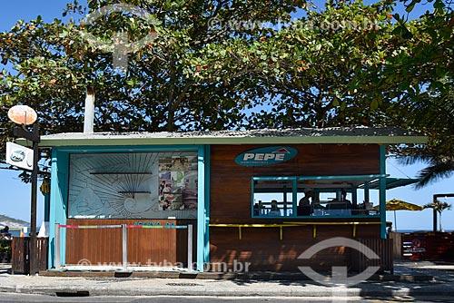 Quiosque do Pepê localizado em frente a Praia do Pepê - Trecho da Praia da Barra da Tijuca  - Rio de Janeiro - Rio de Janeiro (RJ) - Brasil