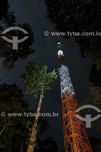 Torre Atto (Amazon Tall Tower Observatory) - Projeto do INPA (Instituto Nacional de Pesquisas da Amazônia) em conjunto com o Instituto Max Planck, da Alemanha, e será usada para observar mudanças climáticas na região  - São Sebastião do Uatumã - Amazonas (AM) - Brasil