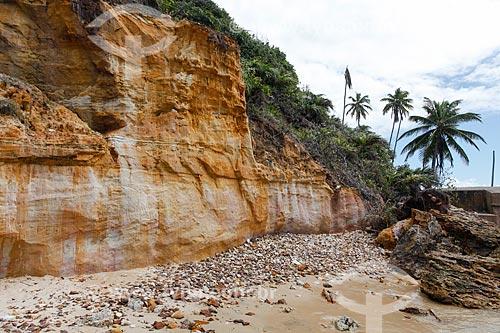 Falésia na Praia da Pedra do Facho - Morro de São Paulo  - Cairu - Bahia (BA) - Brasil