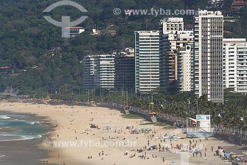 Vista da orla da Praia de São Conrado  - Rio de Janeiro - Rio de Janeiro (RJ) - Brasil