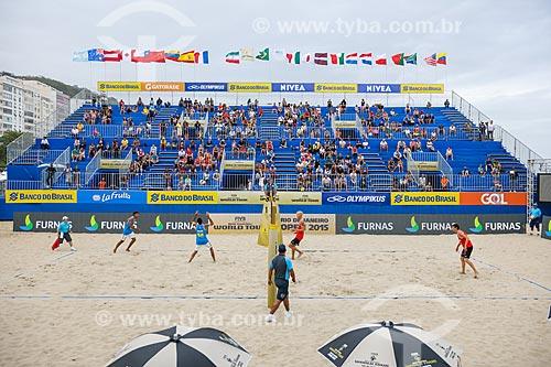 Dupla Marcus e Daniel durante o Rio Open - etapa do Circuito Mundial - evento-teste para os Jogos Olímpicos - Rio 2016 - na Praia de Copacabana  - Rio de Janeiro - Rio de Janeiro (RJ) - Brasil