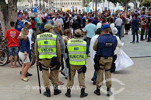 Policiamento na Praça Mauá após a reurbanização  - Rio de Janeiro - Rio de Janeiro (RJ) - Brasil