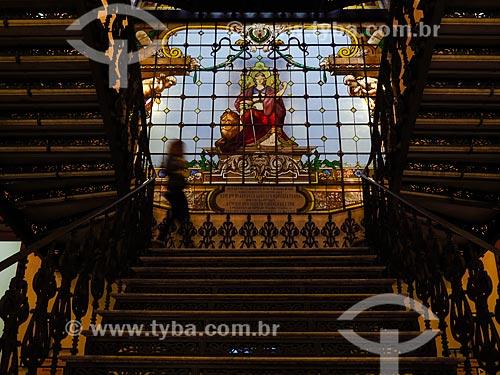 Escadaria no interior do Centro Cultural Justiça Federal  - Rio de Janeiro - Rio de Janeiro (RJ) - Brasil