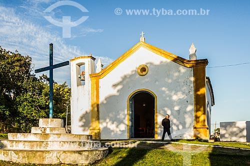 Fachada da Igreja de São Sebastião (1826)  - Florianópolis - Santa Catarina (SC) - Brasil