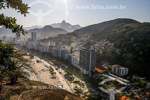 Vista da Praia do Leme a partir do Forte Duque de Caxias - também conhecido como Forte do Leme  - Rio de Janeiro - Rio de Janeiro (RJ) - Brasil