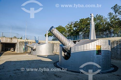 Canhões do Forte Duque de Caxias - também conhecido como Forte do Leme  - Rio de Janeiro - Rio de Janeiro (RJ) - Brasil