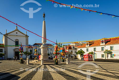 Praça Marques de Pombal na Vila Real de Santo António  - Vila Real de Santo António - Distrito de Faro - Portugal