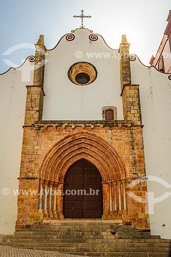 Fachada da Catedral de Silves  - Concelho de Silves - Distrito de Faro - Portugal