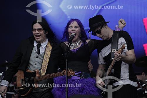 Pepeu Gomes, Baby do Brasil e Pedro Baby durante show no Palco Sunset - Rock in Rio 2015  - Rio de Janeiro - Rio de Janeiro (RJ) - Brasil