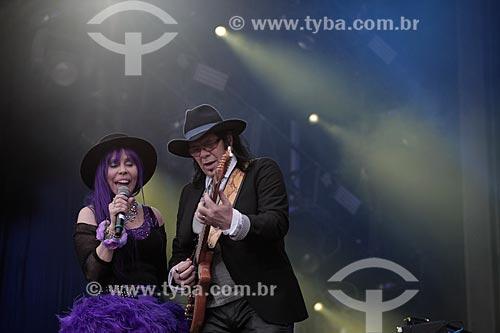 Pepeu Gomes e Baby do Brasil durante show no Palco Sunset - Rock in Rio 2015  - Rio de Janeiro - Rio de Janeiro (RJ) - Brasil