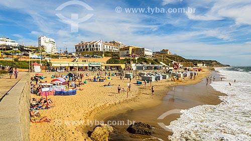 Banhistas na Praia da Areia Branca  - Concelho de Lourinhã - Distrito de Lisboa - Portugal