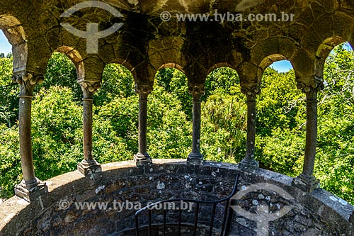 Vista a partir do mirante da torre na Quinta da Regaleira  - Concelho de Sintra - Distrito de Lisboa - Portugal