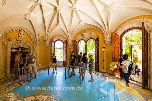 Interior do Palácio da Regaleira (XIX century) - também conhecido como Palácio do Monteiro dos Milhões na Quinta da Regaleira  - Concelho de Sintra - Distrito de Lisboa - Portugal