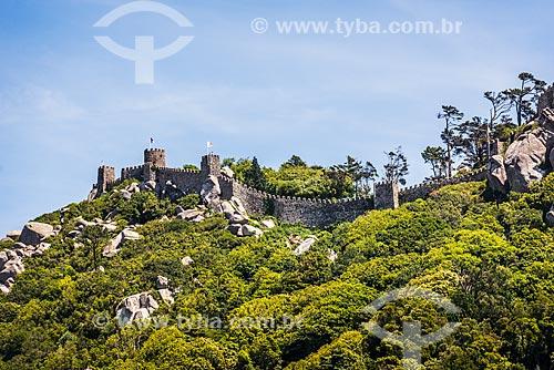 Vista do Castelo de Sintra (IX century) - também conhecido como Castelo dos Mouros  - Concelho de Sintra - Distrito de Lisboa - Portugal