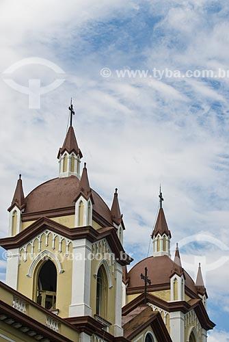 Detalhe do campanário da Santa Casa de Misericórdia de Porto Alegre  - Porto Alegre - Rio Grande do Sul (RS) - Brasil