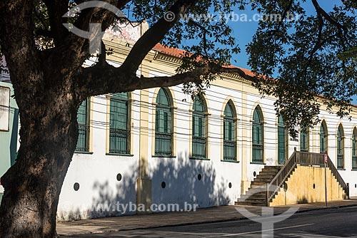 Fachada da antiga casa do Barão de Gurgueia, atual Casa da Cultura de Teresina (século XIX)  - Teresina - Piauí (PI) - Brasil