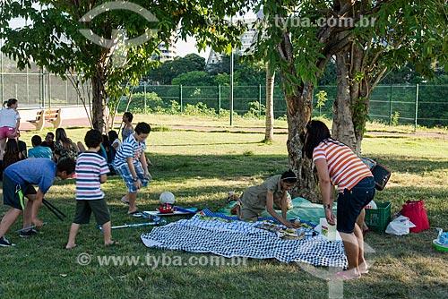 Família fazendo piquenique no Parque Potycabana  - Teresina - Piauí (PI) - Brasil
