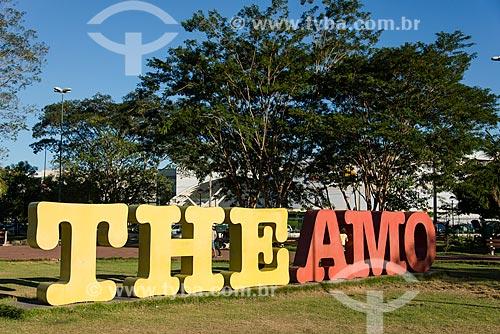Letreiro com os dizeres: The Amo, no Parque Potycabana  - Teresina - Piauí (PI) - Brasil