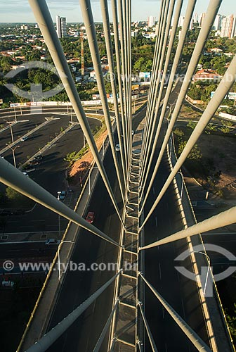 Detalhe da Ponte Estaiada João Isidoro França (2010)  - Teresina - Piauí (PI) - Brasil