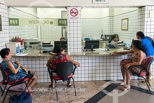 Pacientes na recepção do Hospital Estadual Getúlio Vargas  - Teresina - Piauí (PI) - Brasil