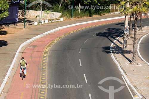 Ciclofaixa na Avenida Marechal Castelo Branco  - Teresina - Piauí (PI) - Brasil