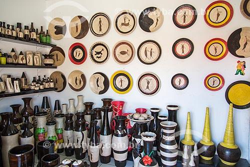 Interior de loja no Polo Cerâmico do Poti Velho  - Teresina - Piauí (PI) - Brasil