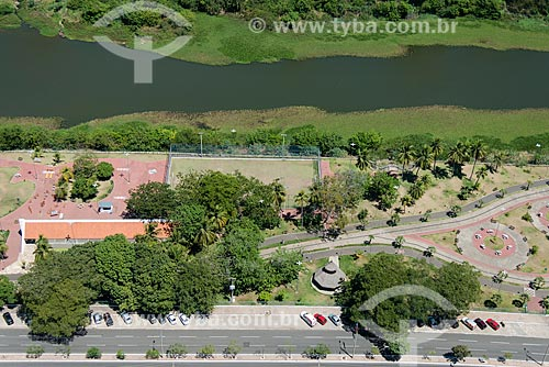 Foto aérea do Parque Potycabana com o Rio Poti  - Teresina - Piauí (PI) - Brasil